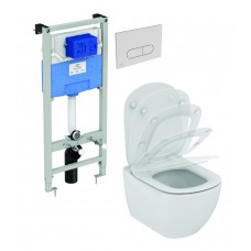 WC rėmo komplektas Ideal Standard ProSys, su WC Tesi Aquablade ir soft-close dangčiu