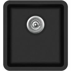 Granitinė plautuvė Aquasanita ARCA SQA 101 601 black metallic
