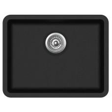 Granitinė plautuvė Aquasanita ARCA SQA 102 601 black metallic