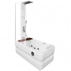 Masažinė vonia AMO-0062 dešinė 140x78 cm.
