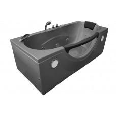 Masažinė vonia AMO-1002E SILVER 180x85 cm.