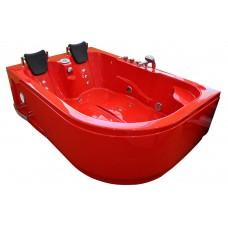 Masažinė vonia MAZUR  MO-1631 RED 180x120cm dvivietė