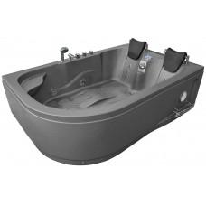 Masažinė vonia MAZUR  MO-1631 SILVER 180x120cm dvivietė