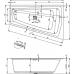 Akrilinė vonia RIHO STILL SMART PLUG & PLAY 170x110 cm.