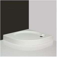 Pusapvalė dušo vonelė iš supresuotų sluoksnių SaniPro Dream-P 80x80